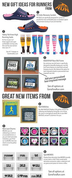Running Gift ideas from GoneForaRun.com