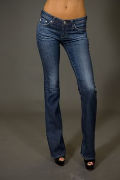 AG Jeans. Skinny through knee, flare out mmmhm