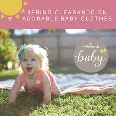 We're doing spring cleaning! Time to stock up on cute baby clothes for a summer full of sunshine with your little one! Shop our clearance exclusively from Hallmark Baby!