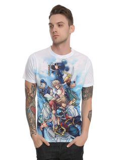 Disney Kingdom Hearts Characters Sublimation T-Shirt | Hot Topic