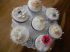 wedding cupcakes by weddingcupcakesbirmingham, via Flickr