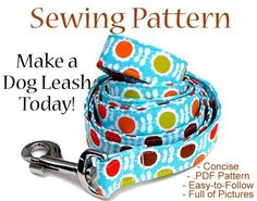 Looking for your next project? You're going to love Dog Leash Sewing Pattern - Illustrated G by designer ThePreppyOwl.
