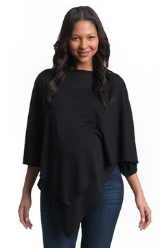 Free shipping and returns on Bun Maternity Cozy Up Maternity/Nursing Poncho at Nordstrom.com. An ultrachic knit poncho with an asymmetrical hemline adds a versatile layering essential to your maternity wardrobe and perfectly transitions to post-pregnancy wear. When you're ready to nurse, just flip up the front layer for discreet access.