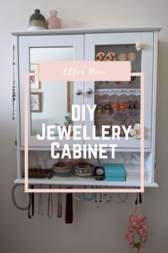 I made my own jewellery storage cabinet by re-purposing a bathroom cabinet - here's how I did it! #jewellerystorage #jewelrystorage #jewellerycabinet #jewelrycabinet #recycledfurniture #repurposedfurniture #upcycle #upcycling Diy Jewelry Cabinet, Jewellery Storage, Repurposed Furniture, Dressing Room, Craft Projects, New Homes, Arts And Crafts, Crafty, Bathroom