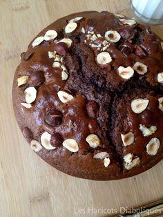 Gâteau au Nesquick et aux noisettes #recette #gâteau #chocolat #facile