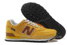 on sale c2769 df4d2 Online Wholesale Price New Balance 574 Cheap Backpack Trainers Yellow Mens  Shoes