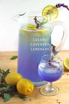 Coconut Lavender Lemonade and more seasonal spring cocktail recipes Summer Drink Recipes, Summer Drinks, Fun Drinks, Simple Cocktail Recipes, Cocktail And Mocktail, Spring Cocktails, Lemonade Cocktail, Lavender Recipes, Coconut Water Recipes