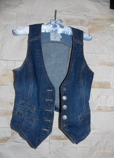 jeansowa kamizelka H&M na guziki