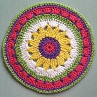 Crochet Mandala Wheel made by  Carol, Australia,  for yarndale.co.uk