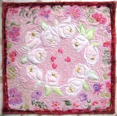 """""""Ring of Peace"""" art quilt by Jeanne Turner McBrayer"""