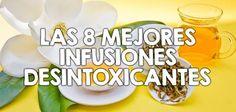 Las 8 mejores infusiones desintoxicantes Juice Smoothie, Smoothies, Healthy Drinks, Healthy Recipes, Healing Herbs, Tea Recipes, Weight Loss Goals, Alternative Medicine, Health Remedies