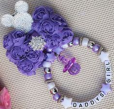 Personalised stunning pram charm in purple for baby girl ideal gift Cute Jewelry, Beaded Jewelry, Jewellery, Bling Baby Shower, Handmade Accessories, Handmade Jewelry, Pram Charms, Biscuit, Business Baby