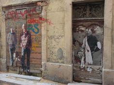 Street art in Le Panier, Marseille, France