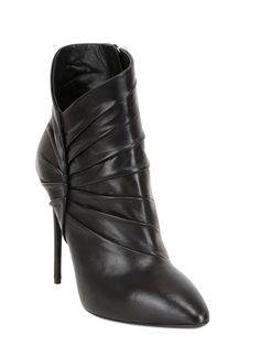 GIUSEPPE ZANOTTI - 115MM LEATHER ANKLE BOOTS