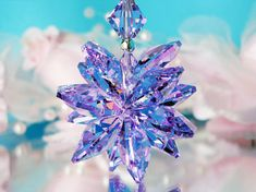 Violet Crystal Suncatcher Car Mirror Charm by CrystalBlueDesigns