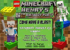 Minecraft Birthday Invitations : Minecraft Birthday with Minecraft Birthday Card Template - Great Sample Templates Minecraft Party Invitations, Minecraft Birthday Invitations, Invitation Card Party, Free Printable Birthday Invitations, Birthday Card Template, Birthday Party Invitations, Birthday Party Themes, 7th Birthday, Invitation Wording