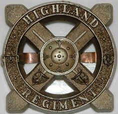 RARE HIGHLAND REGIMENT WW2 PLASTIC ECONOMY BADGE