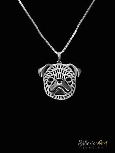 Brussels Griffon smooth coat sterling silver pendant and