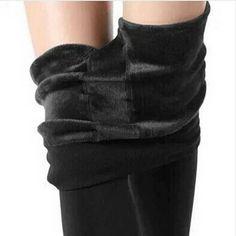 S-XL 8 Farben Winter Frauen Warme Leggings Elastische Hohe Taille Plus Samt  Dicke Dünne Stretch Dicke Hose Weibliche Leggings Frauen ec7661fa5b