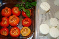 Roasted Cherry Peppers Stuffed With Goat Cheese And Basil - COOKING