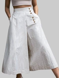 Gorgeous Butterfly Flower Print Slit Hem Casual Pants With Pocket - NewChic Mobile Patchwork Denim, Spring Look, Spring Summer, Fashion Pants, Fashion Outfits, Fashion Fashion, Fashion Ideas, Clothes For Sale, Clothes For Women