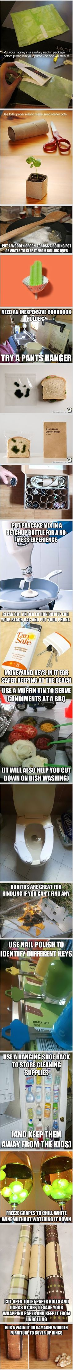Funny but cool life hacks