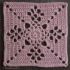 Victorian Lattice Square by Destany Wymore Col Crochet, Crochet Afgans, Crochet Chart, Filet Crochet, Crochet Motif, Crochet Diagram, Crochet Blocks, Granny Square Crochet Pattern, Crochet Stitches Patterns