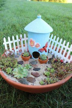 My diy Fairy Garden - under $20.00.  Click through to get ideas to make your own inexpensive diy fairy garden. Fun kid activity!