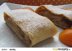 Babiččin meruňkovo - jablečný závin Strudel, Bread, Sweet, Food, Kuchen, Candy, Breads, Bakeries, Meals