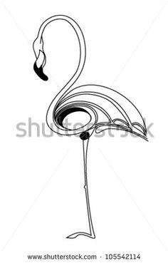 Abstract flamingo. Vector
