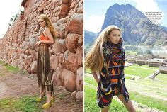 Para Peru color layering spring fall tropical ethnic