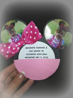 Minnie Mouse Invitation With Real Bow ~ Party Craft Feature | Seshalyn's Party Ideas