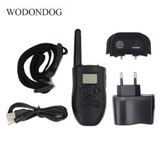 pet dog electric shock training collar for dogs waterproof remote control dog collar device charging remote control Dog Supplies