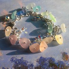 Seaglass jewelry - the impressionist's spring garden | by Ecstasea