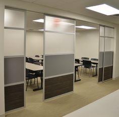 Ideal para hoteles, oficina, hogar, restaurantes y auditorios.  GLIDE es un sistema de pared deslizante. Las pantallas corredizas se montan en el techo para proporcionar espacio libre y facilidad de uso para la privacidad o espacios abiertos versátiles.  By UPPER PANAMA