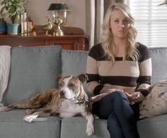 Kaley Cuoco's dog looks just like my childhood pit bull, Lady!