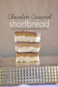 Yum!! Chocolate Caramel Shortbread  | yourhomebasedmom.com shared on Today's Creative Blog
