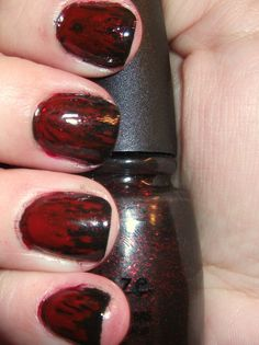Blood Nails - So wish I were talented enough to do this!  I'd love for halloween!