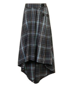 Love this Green Tartan Django's Drape Skirt on #zulily! #zulilyfinds