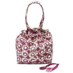 Koko - Jenn Hot Pink Floral Insulated Lunch Bag | Peter's of Kensington