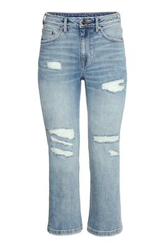 Straight Cropped High Jeans | H&M