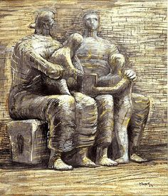 Henry Moore - Have been in awe of his sculptures and drawings since childhood. Wish my brother and I had purchased a Moore print on offer at the London Regional Art Gallery in the early 80s when we both had little money. Love Moore's drawings of sheep, especially. The inspiration he found in weathered pieces of rock and his ability to create sculptures that look natural and created from nature herself is captivating.