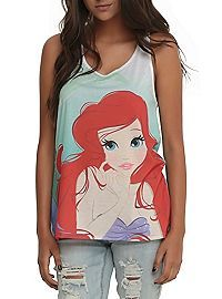 HOTTOPIC.COM - Disney The Little Mermaid Ariel Ombre Girls Tank Top