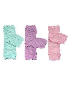Look what I found on #zulily! Wrapables Pastel Ruffle Leg Warmers & Shamballa Bracelet Set by Wrapables #zulilyfinds