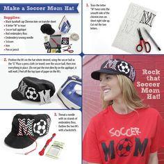 What mom doesn't want to show her support?  Make this easy trendy hat before the next big game.