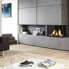 Image result for living room with dru gas fire