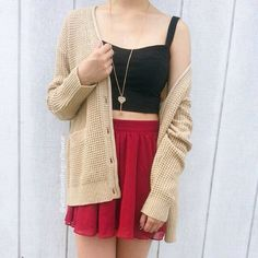 Spring summer look Black red beige
