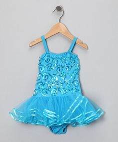 Take a look at this Turquoise Chloe Skirted Leotard - Toddler & Girls by Fairy Dreams on #zulily today!