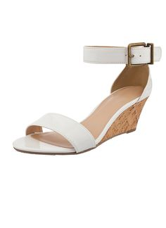 Shop Prima Donna - Pica Ankle Strap Wedges White at Prima donna