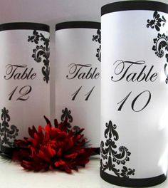 20 French Quarter Table Number Luminaries by PoppySeedStation